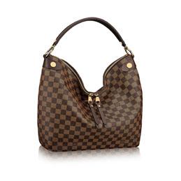 louis vuitton duomo hobo damier ebene canvas handbags
