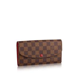 louis vuitton emilie wallet damier ebene canvas small leather goods