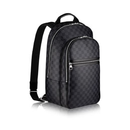 louis vuitton michael damier graphite canvas travel luggage