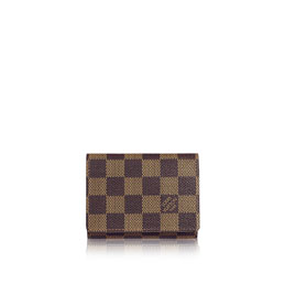 louis vuitton business card holder damier ebene canvas small leather goods