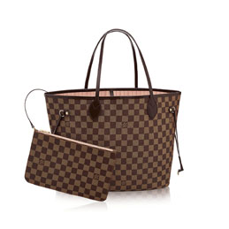 louis vuitton neverfull mm damier ebene canvas handbags
