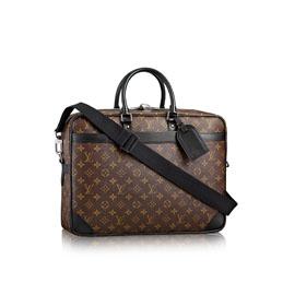 louis vuitton porte documents voyage gm monogram macassar canvas men s bags
